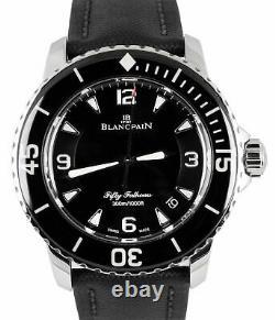 Mint Blancpain Fifty Fathoms Automatique 5015 Acier Inoxydable 45mm Noir Montre
