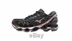 Mizuno Wave Prophecy 7 Chaussures De Course Pour Femmes Noir Rose Gris J1gd180034 18u