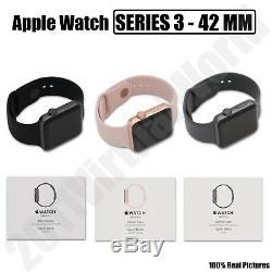 Montre Apple Series 3 Gps 42mm / 38mm Gris Espace Doré Rose Aluminium Noir