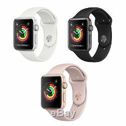 Montre Apple Watch Series 3 De 42 MM Avec Gps Uniquement, Boîtier En Aluminium, Boîtier De Sport, Montre Intelligente