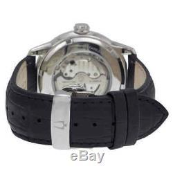 Montre Bulova Automatique Pour Hommes Avec Cadran Noir Et Gris, Bulova 96a135