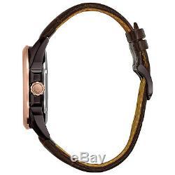 Montre Hommes 98a165 Classique Automatique Bracelet En Cuir Brun De 43mm Montre