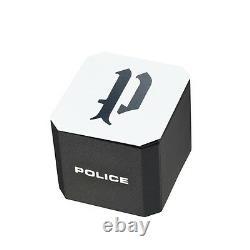 Montre Quartz Homme De Police Reaper Avec Bracelet En Cuir Noir 94385aere/57