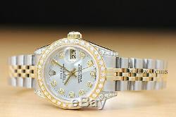 Montre Rapide Rolex Datejust À Deux Tons Pour Femme, Rolex Datejust, Or Jaune 18k