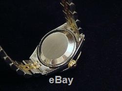 Montre Rolex Datejust En Or Jaune 14k Et Acier, Cadran Diamants, Lunette En Or Blanc