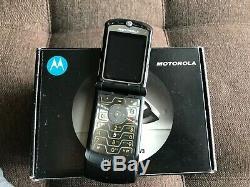Motorola Razr V3 Noir (unlocked) Smartphone Super Cool Vintage Rare