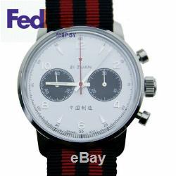 Mouette Chronographe Mens Panda Montre Pilote Réédition 304 1963 42mm Remontage Manuel