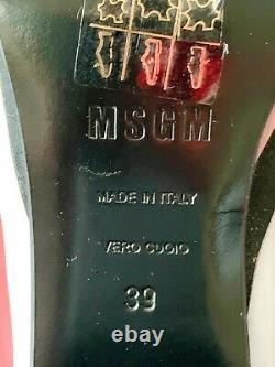 Msgm Défilés Mocassins MIDI Heels Rayé Patchwork Rouge Rose Gris Noir 39, 8