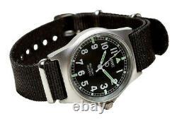 Mwc G10lm Military Watch 50m Aucune Date Vis Case Retour Bracelet Noir
