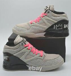 Nds Reebok Pump Omni Lite Basquiat Salty Grey/black/neon Pink Rare Retro 10