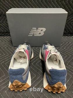 New Balance 327 Castlerock Size 11.5 Fits Like Size 12 Navy Gray Black Pink