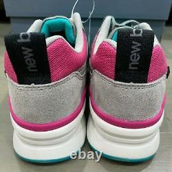 New Balance 997 Grey Pink Teal White Black South Beach Taille 9 M997hys Nib