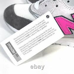 New Balance 997 Sneakers Made In The USA Grey Pink Black M997lbk Sz 6 Wmns 7,5