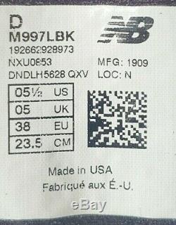 New Balance Made In USA Gris / Rose / Noir M997lbk Hommes 5,5 Pour 7 Femmes