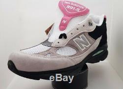 New Balance Mens Sneakers 991fr Fabriqué En Angleterre Gris Noir Et Rose