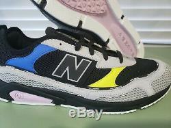 New Balance X-racer Lifestyle Hommes Sport Chaussures Gris / Noir / Neon Pink Msxrctlc Sz 10