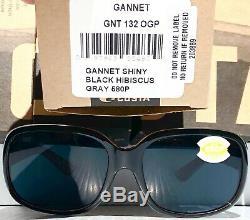 New Costa Gannet Hibiscus Noir Polarisé 580p Gris Lunettes De Soleil Pour Femmes Gnt 132