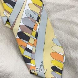 New Emilio Pucci Italie Cravate Psychic Iconique Géométrique