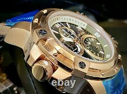 New Invicta 30381 Coalition Forces Retrograde 52mm Black Dial Rose Gold Watch