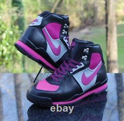 Nike Air Baltoro Femmes Taille 8.5 Rose Sneakerboots Noir Gris 312021-061
