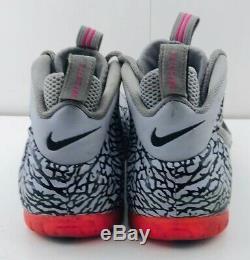 Nike Air Foamposite Men Prm Pink Elephant Imprimer Taille Gris Noir 12 616750-002