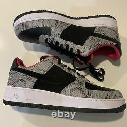 Nike Air Force 1 Low ID Snakeskin Ct3761 991 Taille 10 Gris Noir Rose