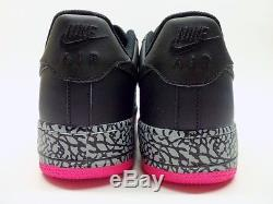 Nike Air Force 1 Noir / Hyper Rose-loup Gris Taille Hommes 12 488298-063