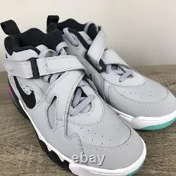 Nike Air Force Max Cb Charles Barkley Sz 9.5 Wolf Grey Black Aj7922-003 Rose 34