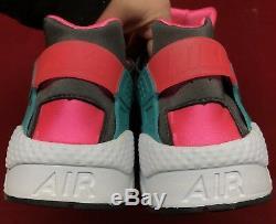 Nike Air Huarache Hyper Pink Dusty Vert Cactus Gris Cendré Noir Blanc Sz 13