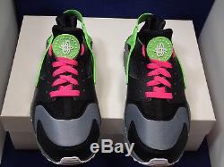 Nike Air Huarache Run ID Femmes Noir Vert Gris Rose Rose Sz 8 (777331-994)