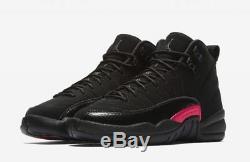Nike Air Jordan 12 XII Retro Rush Rose Noir Gris Foncé 510815-006 Filles Garçons Gs