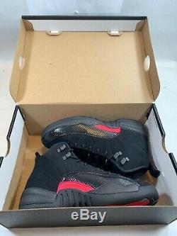Nike Air Jordan 12 XII Retro Sz 5y Noir Gris Foncé Rush Rose Gs 510815-006