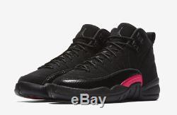 Nike Air Jordan 12 XII Retro Sz 9.5y Noir Gris Foncé Rush Rose Gs 510815-006