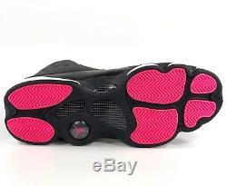 Nike Air Jordan 13 Retro XIII Gg Noir Gris Anthracite Rose 439358-009 8.5y