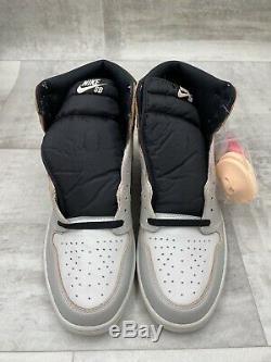 Nike Air Jordan 1 High Og One Nyc À Paris Gris Noir Rose Taille 13 Cd6578-006