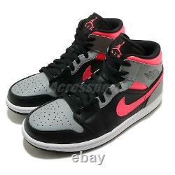 Nike Air Jordan 1 MID I Aj1 Rose Ombre Noir Gris Blanc Hommes Chaussures 554724-059
