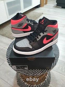 Nike Air Jordan 1 MID Pink Shadow Black Grey Hot Punch Uk6 Flambant Neuf