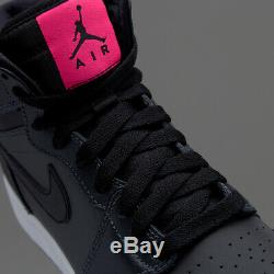 Nike Air Jordan 1 Retro Haut Gg Gs Anthracite Noir Rose Blanc 332148-004