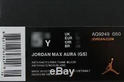 Nike Air Jordan Max Aura Gris Foncé / Rose Mousse / Noir Retro 10 11 Femmes Filles Jeunes