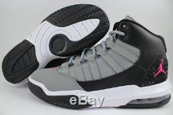 Nike Air Jordan Max Gris / Rose / Noir / Blanc Retro 10 11 Femmes Filles Jeunesse