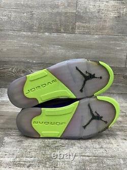 Nike Air Jordan V 5 Retro Bel Air Fresh Prince Gris Noir Rose 621958-090 Sz 10