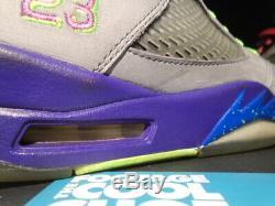 Nike Air Jordan V 5 Retro Bel Air Og Refroidir Gris Rose Violet Noir 621958-090 10