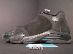 Nike Air Jordan XIV 14 Retro 2005 Noir Vrai Rose Rose Argent Gris 312274-001 13 11.5