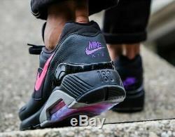 Nike Air Max 180 Aq9974 001 Noir / Rose Chaussures Blast-wolf Gris Mrsp $ 140
