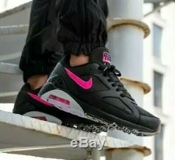 Nike Air Max 180 Aq9974 001 Noir / Rose Haut-loup Gris Chaussures Homme Sz 10