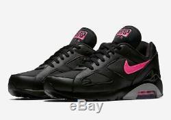 Nike Air Max 180 Noir Rose Blast / Wolf Gris Tailles 8-13 Aq9974 001 Pdsf 140 $ Nouveau