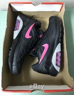 Nike Air Max 180 Prm Premium Noir Rose Gris Hommes Chaussures De Course Sz 8.5 1 90 95