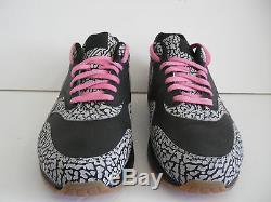 Nike Air Max 1 ID Black-cement Gris-rose Supreme Elephant Sz 13 628312-991