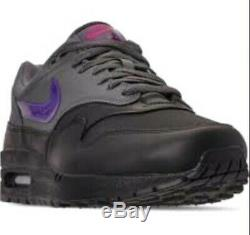 Nike Air Max 1 Miami Nights Noir Gris Violet Rose Ar1249-002 Taille Homme 10,5