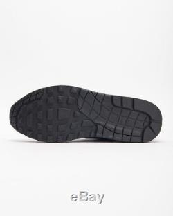 Nike Air Max 1 Noir Gris Rose Hommes Baskets Baskets Chaussures 6 7 8 9 10 11 12 13